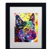 Dean Russo 'Aus Cattle Dog' Matted Black Framed Art