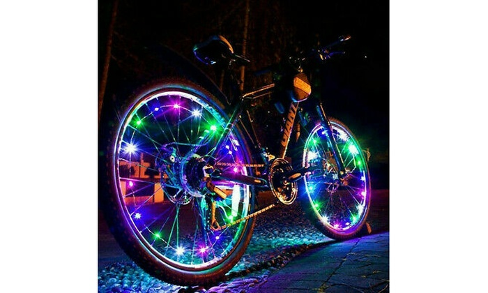 20 LED Bike Bicycle Cycling Rim Lights Flash Wheel Spoke Light String Strip Lamp