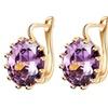 Flower Colorful Crystal Stud Earrings