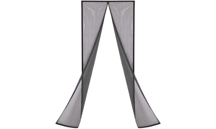 Magnetic Screen Door with Heavy Duty Mesh Curtain and Full Frame Hook&Loop