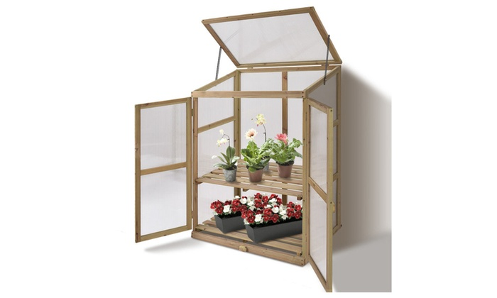 Up To 41% Off on Garden Portable Wooden GreenH... | Groupon Goods