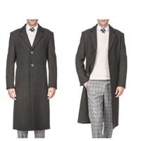 Braveman Men's Wool Blend Over Coats Deals