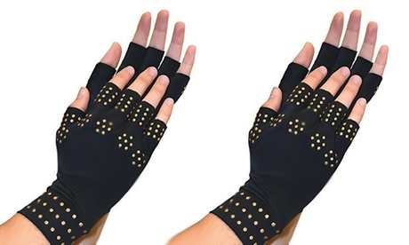 QPower Magnetic Therapy Gloves Compression, Supports Joints Heal c05adfff-5746-4059-982e-ab2f2c6dc2f1