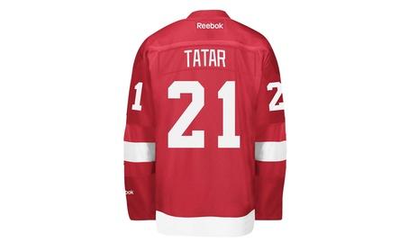 Detroit Red Wings #21 Tomas Tatar Reebok Red Premier Jersey d6058067-864c-4c36-9b1b-88427cb74297
