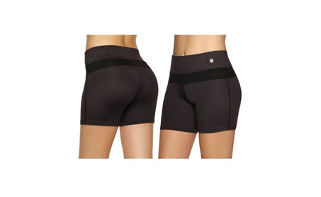 Yoga Running Gym Stretch Compression Shorts for Women Ideal for Sports