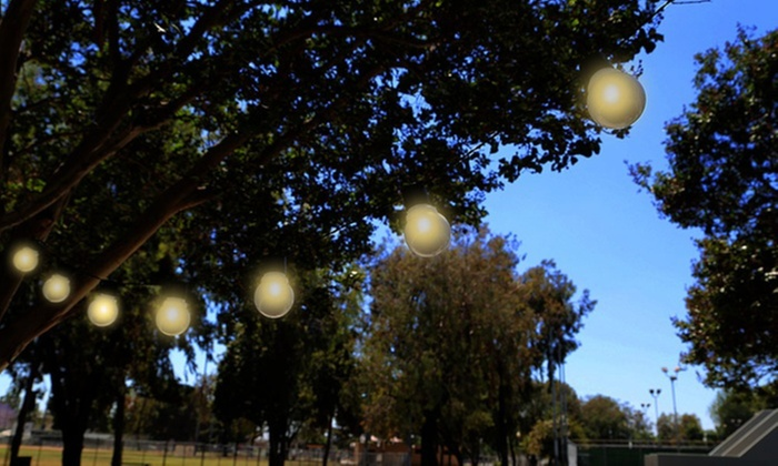Solar Globe String Lights Throughout Solarpowered Globe String Lights 1 2 Or 4pack Groupon