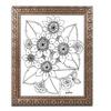 KCDoodleArt 'Flower Design 4' Ornate Framed Art
