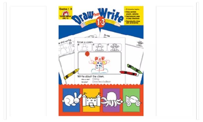 EVAN-MOOR EMC731 Draw Then Write Grade 1-3