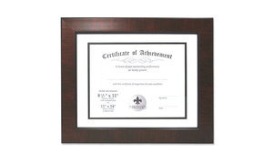 Dual Use Mahogany Faux Burl 11x14 Certificate Picture Frame