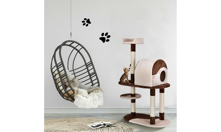 """48"""" Cat Tree Kitten Activity Tower Furniture Condo w Perches Scratching Posts"""