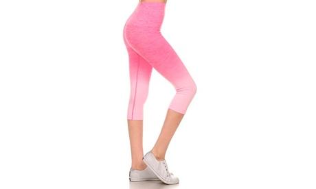 Activewear Ombre Capri Leggings 0aa82df9-ade2-48b7-89f2-af17a379b71b