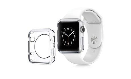 Insten Clear Soft TPU Bumper Case for Apple Watch Sport Edition 42mm