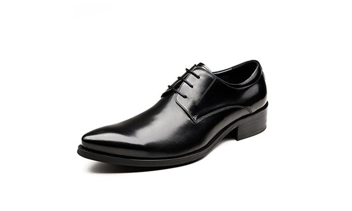 Men's Dress Shoes Genuine Leather Wedding Business Oxfords Shoes