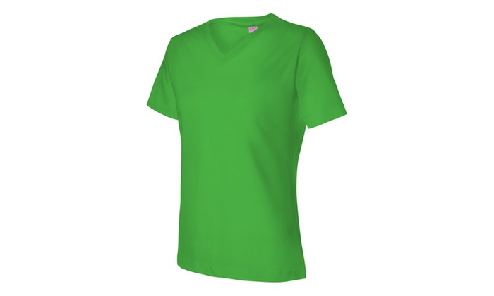 L.A.T Cotton V-Neck Tee Shirt LAT3587-1