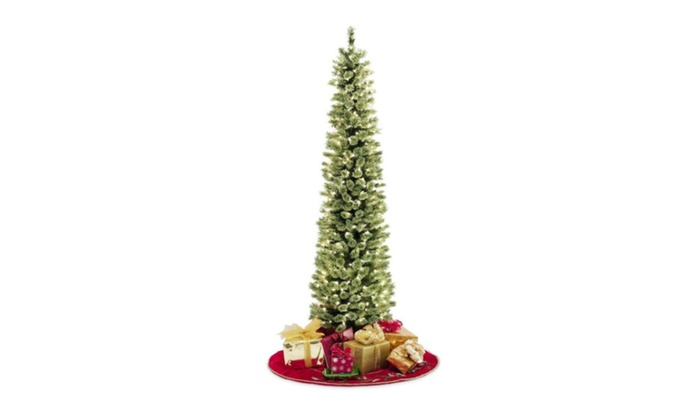 Pencil Slim Christmas Tree 7ft Soft Feel Touch With Stay
