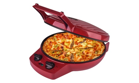 Courant CPM-1240R 12-inch Electronic Pizza Maker, Red photo