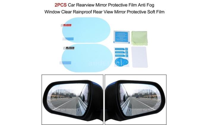 Rainproof Anti Fog Water Mist Car Rear View Mirror Window Protective Film Clear