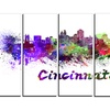 Cincinnati Skyline - Cityscape Metal Wall Art
