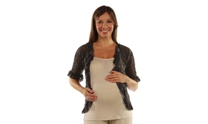 Goddess Black Lace Maternity Bolero Cardigan Shrug