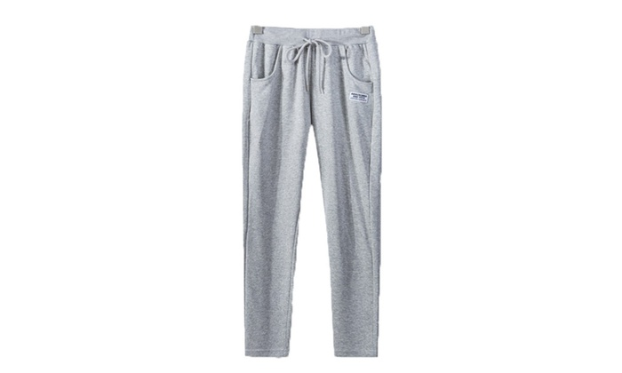Men's Simple Mid Rise PullOnStyle Fashion Casual Pants