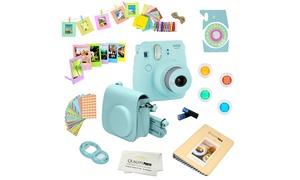 Fujifilm Instax Mini 9 (Ice Blue) 15 PCS Deluxe kit bundle