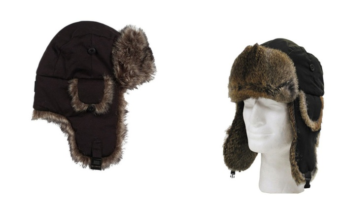 Comfortable Winter Trapper Warm Hat Faux Fur
