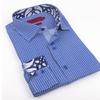 Elie Milano Italy Navy Pattern Men's Shirt Ebsh180M