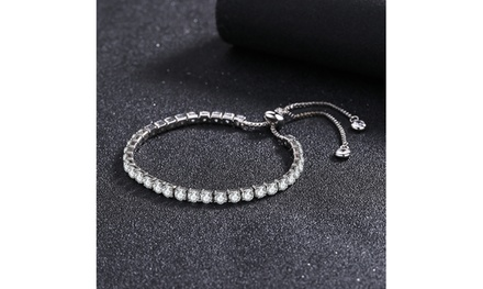 Swarovski Crystal Adjustable Tennis Bracelets in 14K White Gold Was: $34.99 Now: $5.