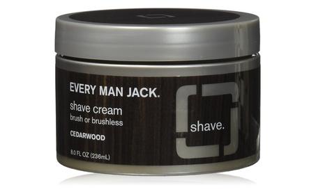 Every Man Jack Shave Cream Brush Or Brushless, 8 Ounce 7e047747-aa70-4f0a-ba4e-20c870450418