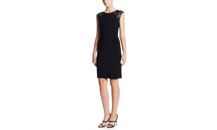 RONNI NICOLE Lace Shoulder Cocktail Dress