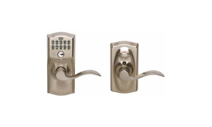 Chrome Accent Entry Lever Keypad Lock