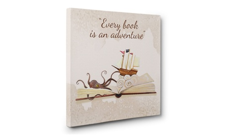 Every Book is An Adventure CANVAS