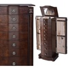 Wood Jewelry Cabinet Armoire Box Storage Chest Mirror Stand Organizer