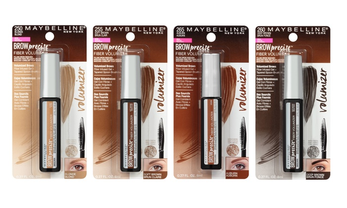 f3af8713a78 Maybelline Brow Precise Fiber Tinted Eyebrow Mascara (3-Pack) | Groupon