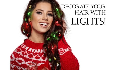 Womens Light-Up Hair Christmas Ornaments - Lights for Your Hair