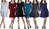 Classic Fit Scoop 3/4 Sleeve Skater Dress