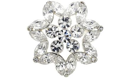 Fantasyard Crystal Flower Wedding Pin Pendant
