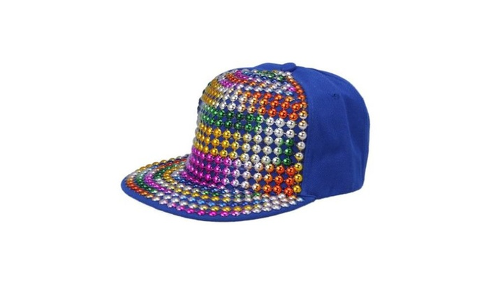 JTC Colorful Adjustable Men Women Punk Baseball Cap Blue - Blue / One Size
