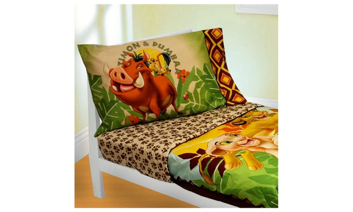 Disney Lion King 4 Piece Toddler Bedding Set Groupon