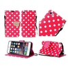 Insten Dots Leather Fabric Case For Iphone 6 Plus/6s Plus Red/white