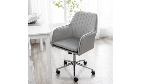 Fabric Home Office Rolling Chair Modern Adjustable Swivel Chair with Arms