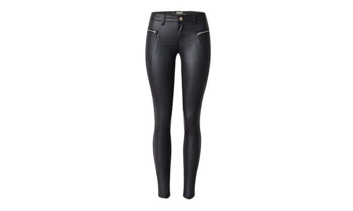 Women's Simple Skinny Capri Pull On Style Casual Pants – Black / One Size