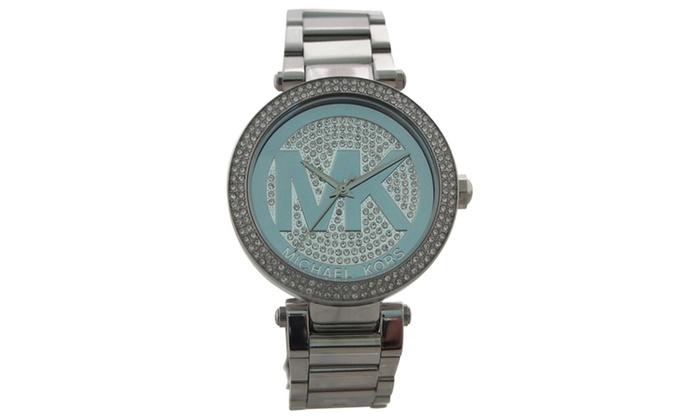9af70a7b1289 Michael Kors MK5925 Parker Pave Silver-Tone Watch
