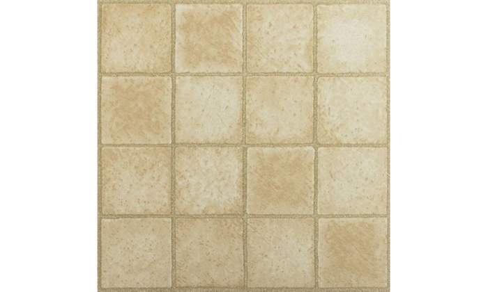 Tivoli 16 square sandstone 12x12 vinyl tile 45 tiles 45 for Square footage of 12x12 room
