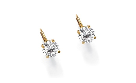 New Palm Beach Jewelry Cubic Zirconia 14k Gold-Plated Stud Earrings 0aea9815-0686-4e6d-b60b-23fa0c04886b