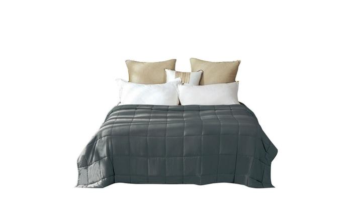 """Grey Weighted Blanket 20lbs Queen Size Reduce Stress Promote Deep Sleep 60x80/"""""""