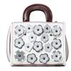 QZUnique Women's PU Leather Top Handle Bag Flower Shoulder Bags