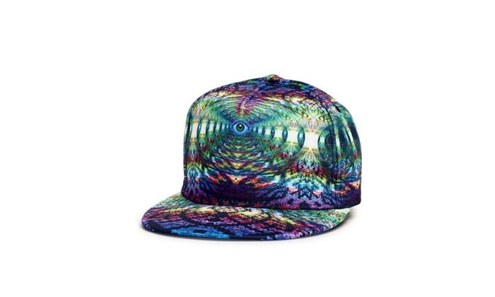 Unisex Snapback Hat Colorful Printed Hip Hop Baseball Cap