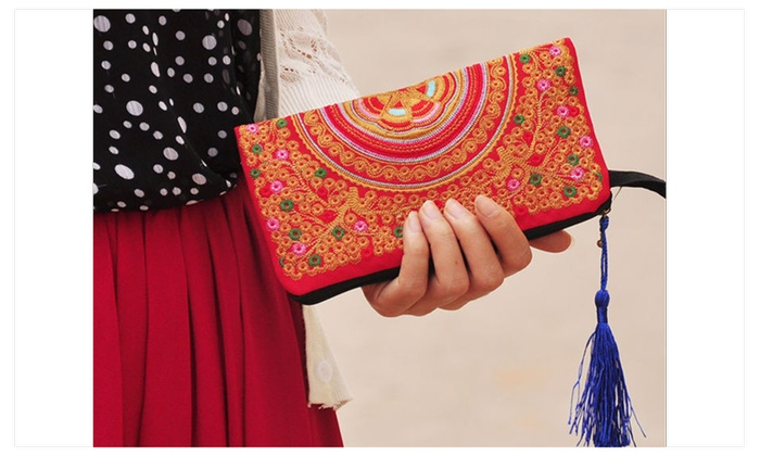 Stylish Multi Functional Hand Stitched Ethnic Clutch