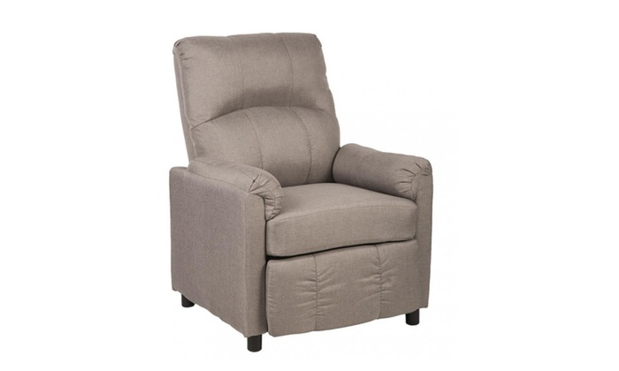Single Arm Recliner Chair Sofa Fabric Reclining Couch